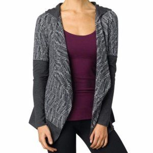 Prana Cardigan Sweater open front hooded graceful